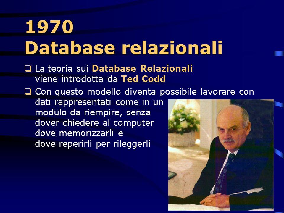1970 – 1970 – IBM System/370  Un altra funzione molto importante è il virtual storage, che consente di caricare in memoria parti di dati di cui il si
