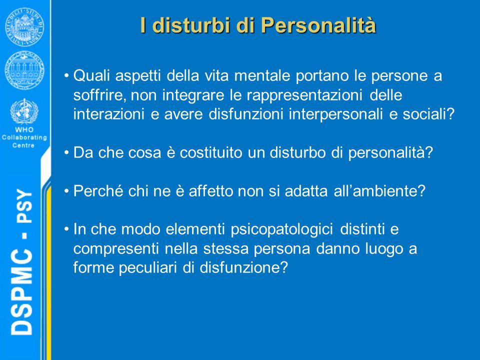 Quali aspetti della vita mentale portano le persone a soffrire, non integrare le rappresentazioni delle interazioni e avere disfunzioni interpersonali e sociali.