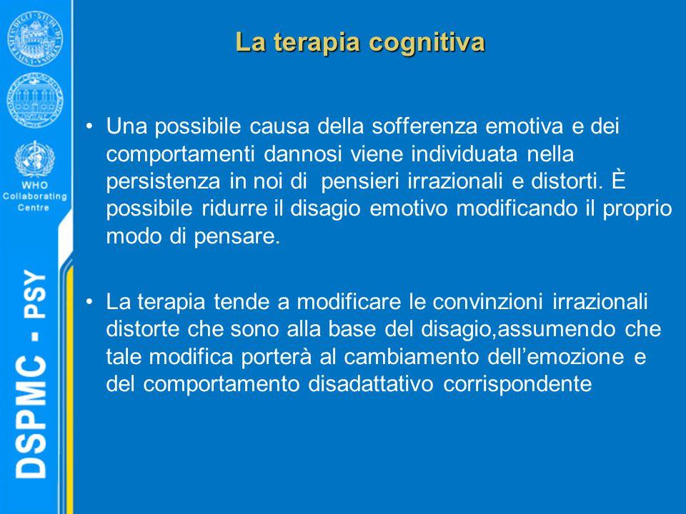 Una possibile causa della sofferenza emotiva e dei comportamenti dannosi viene individuata nella persistenza in noi di pensieri irrazionali e distorti