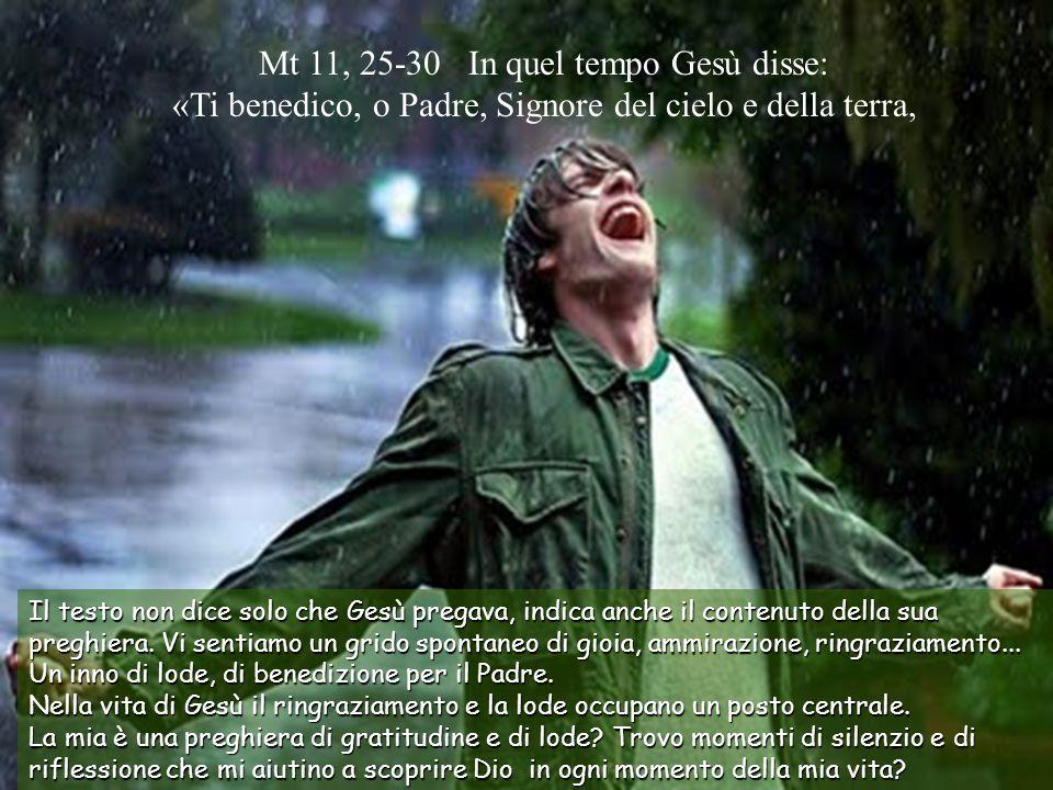Testo: Matteo 11, 25-30 // 14 Tempo Ordinario –A-.