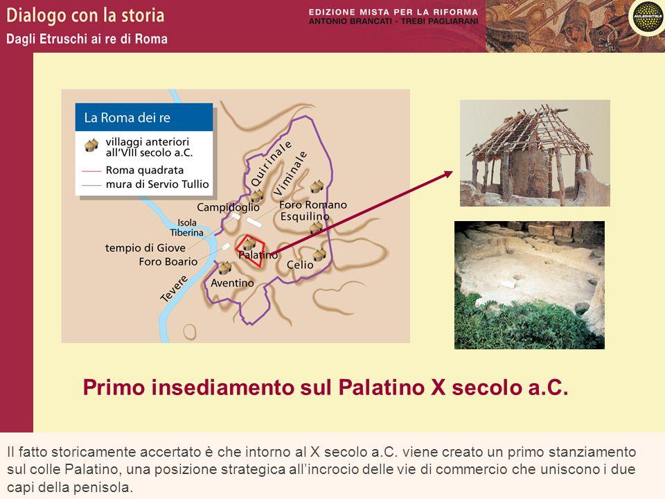 Il fatto storicamente accertato è che intorno al X secolo a.C. viene creato un primo stanziamento sul colle Palatino, una posizione strategica all'inc