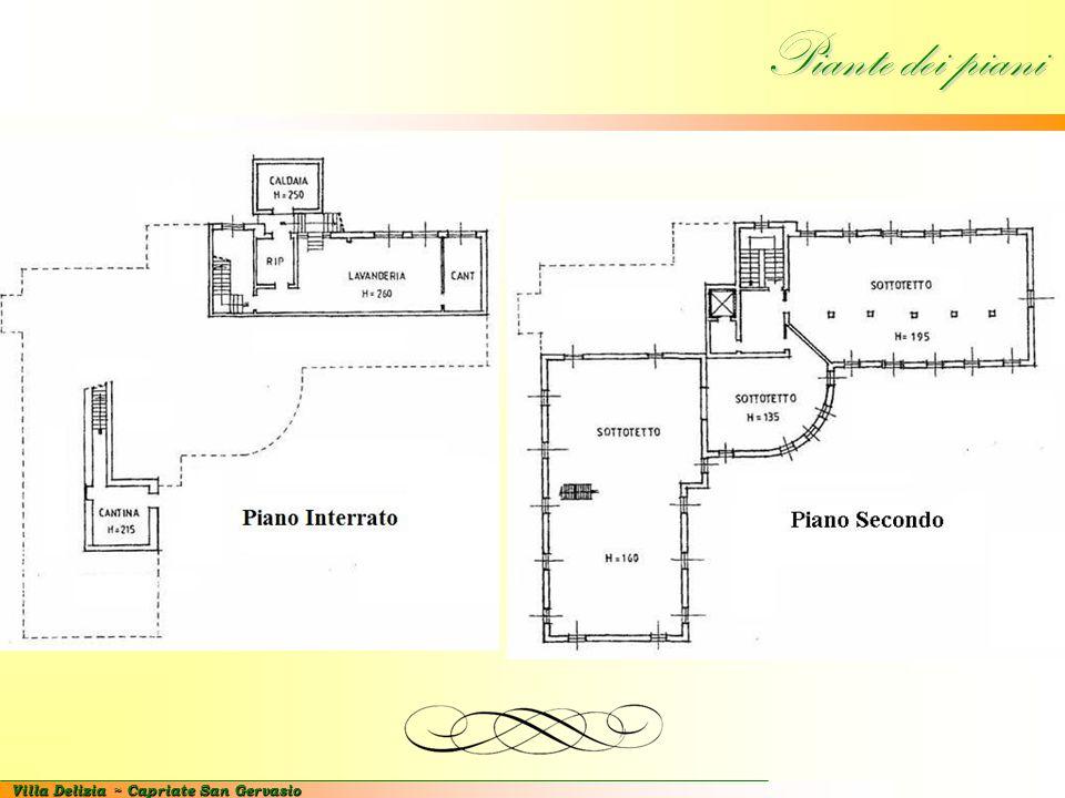 Villa Delizia ~ Capriate San Gervasio Piante dei piani