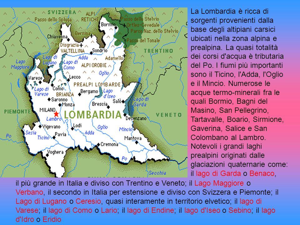 il più grande in Italia e diviso con Trentino e Veneto; il Lago Maggiore o Verbano, il secondo in Italia per estensione e diviso con Svizzera e Piemon