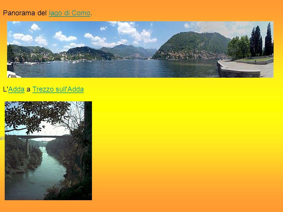 Panorama del lago di Como.lago di Como L'Adda a Trezzo sull'AddaAddaTrezzo sull'Adda