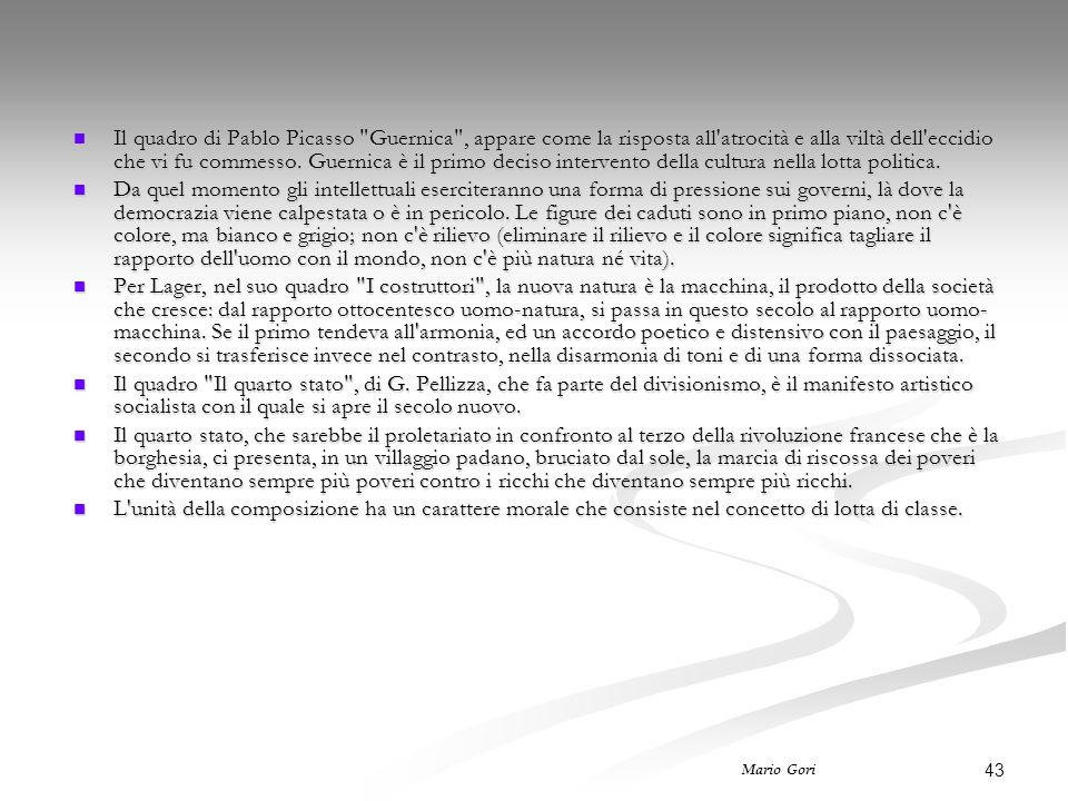 43 Mario Gori Il quadro di Pablo Picasso