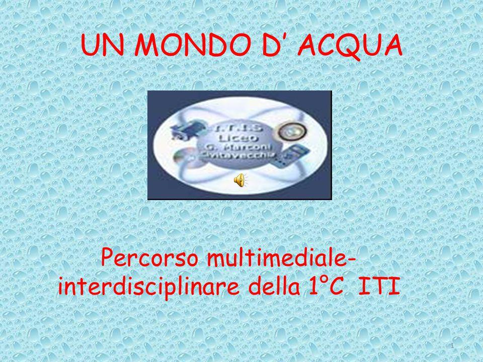 UN MONDO D' ACQUA 1 Percorso multimediale- interdisciplinare della 1°C ITI
