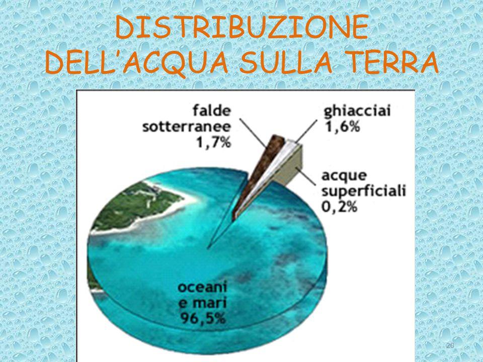 DISTRIBUZIONE DELL'ACQUA SULLA TERRA 20