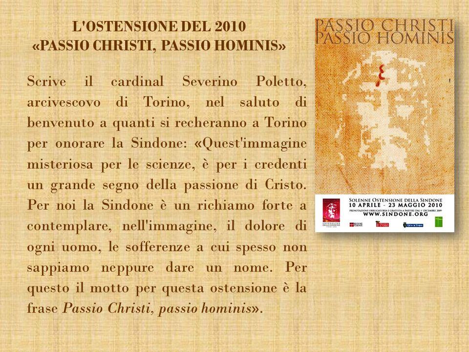 Scrive il cardinal Severino Poletto, arcivescovo di Torino, nel saluto di benvenuto a quanti si recheranno a Torino per onorare la Sindone: «Quest'imm