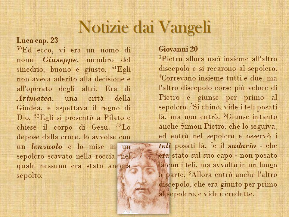 Luca cap. 23 50 Ed ecco, vi era un uomo di nome Giuseppe, membro del sinedrio, buono e giusto. 51 Egli non aveva aderito alla decisione e all'operato