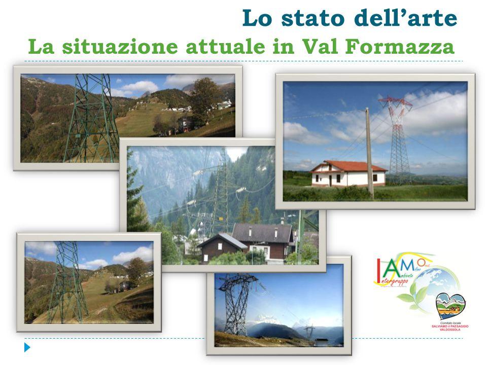 Lo stato dell'arte La situazione attuale in Val Formazza