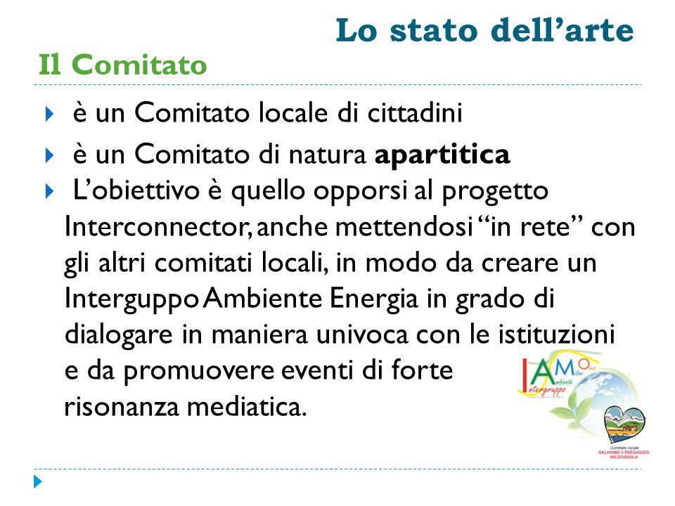 Lo stato dell'arte Il Comitato  è un Comitato locale di cittadini  è un Comitato di natura apartitica  L'obiettivo è quello opporsi al progetto Int