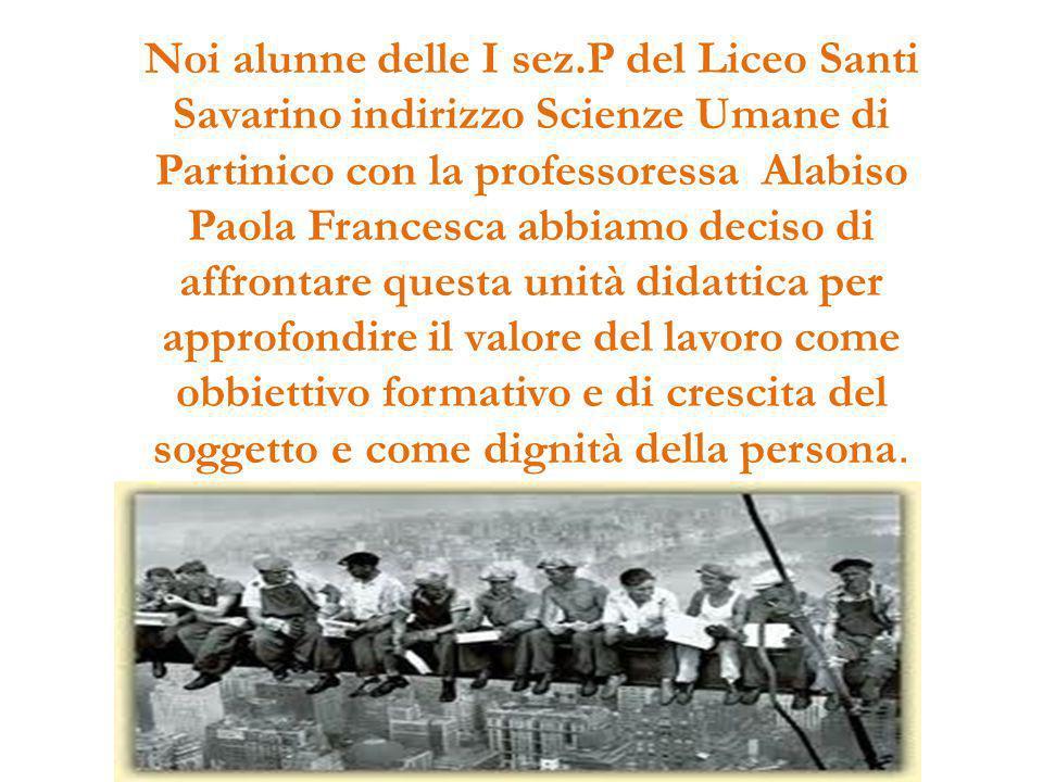Noi alunne delle I sez.P del Liceo Santi Savarino indirizzo Scienze Umane di Partinico con la professoressa Alabiso Paola Francesca abbiamo deciso di