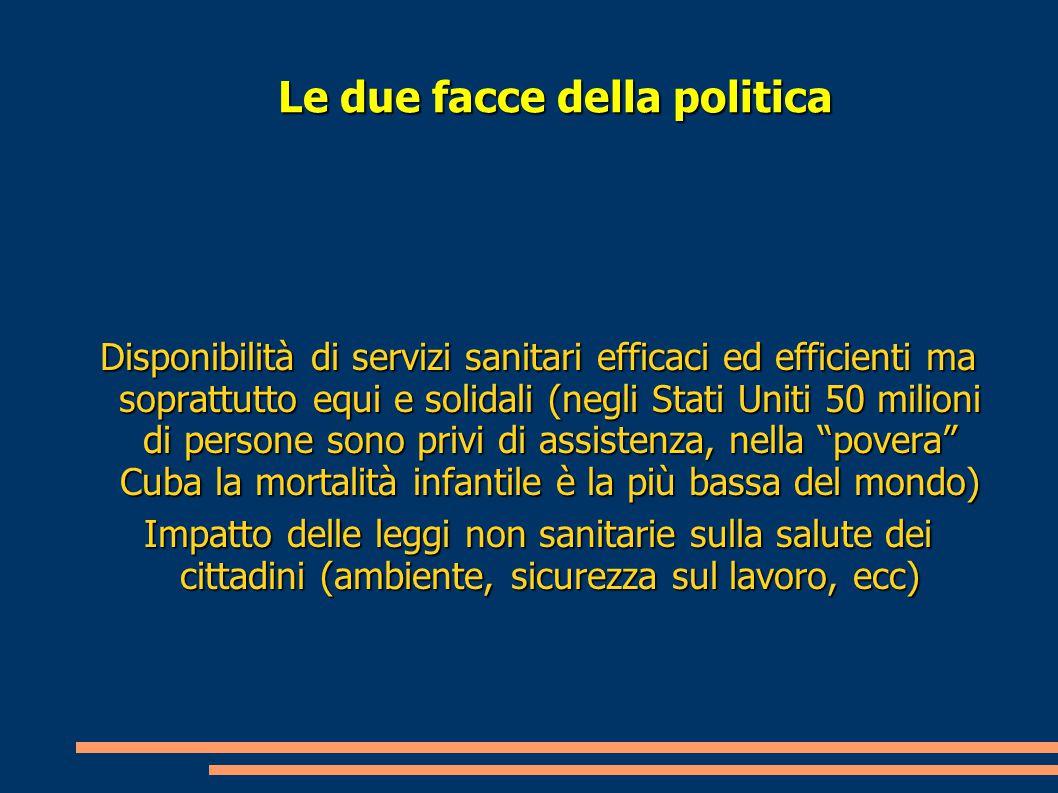 La sanita' in Italia dal 1865 La Legge 2248 del 1865 identifica la tutela della salute pubblica come materia di ordine pubblico e in tal senso ne affida le competenze a livello centrale al Ministero dell'Interno e in sede periferica ai Prefetti e Sindaci