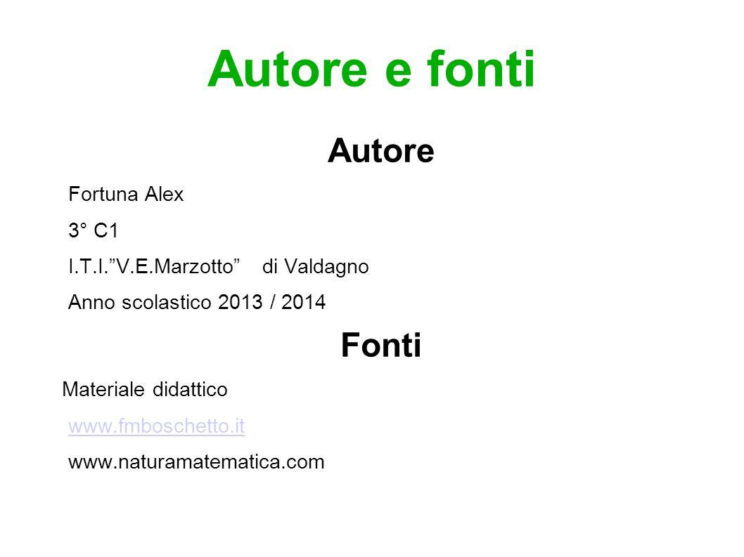 """Autore e fonti Autore Fortuna Alex 3° C1 I.T.I.""""V.E.Marzotto"""" di Valdagno Anno scolastico 2013 / 2014 Fonti Materiale didattico www.fmboschetto.it www"""