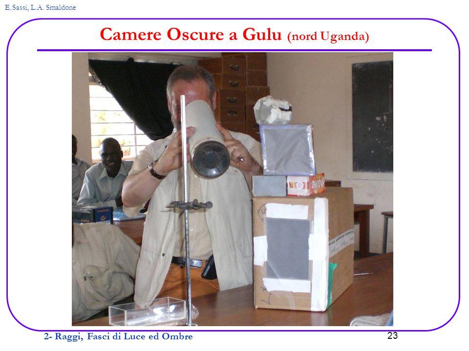 2- Raggi, Fasci di Luce ed Ombre E.Sassi, L.A. Smaldone 23 Camere Oscure a Gulu (nord Uganda)