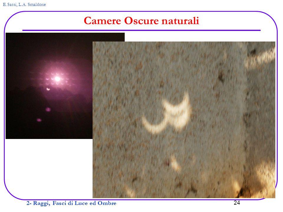 2- Raggi, Fasci di Luce ed Ombre E.Sassi, L.A. Smaldone 24 Camere Oscure naturali