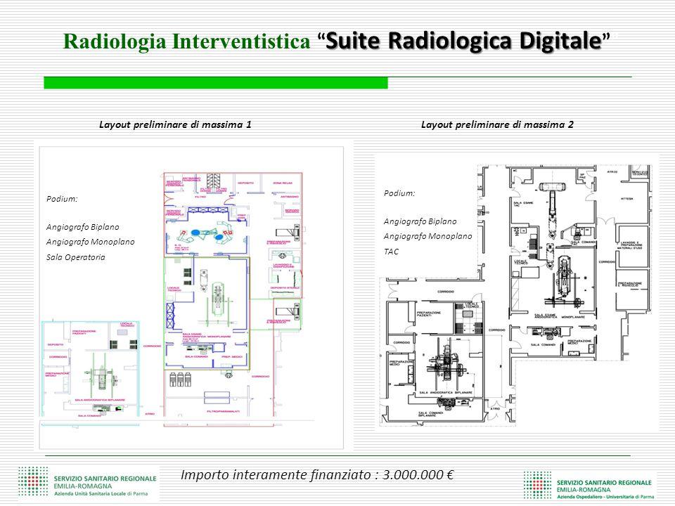 "Suite Radiologica Digitale Radiologia Interventistica "" Suite Radiologica Digitale """" Layout preliminare di massima 2 Podium: Angiografo Biplano Angio"