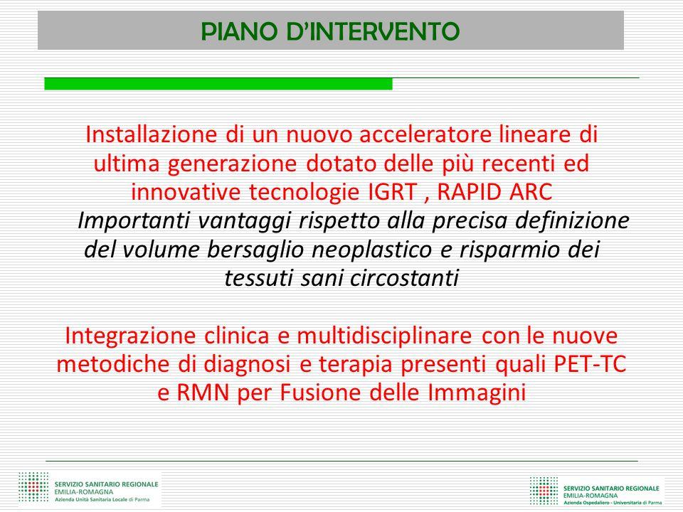 PIANO D'INTERVENTO Installazione di un nuovo acceleratore lineare di ultima generazione dotato delle più recenti ed innovative tecnologie IGRT, RAPID
