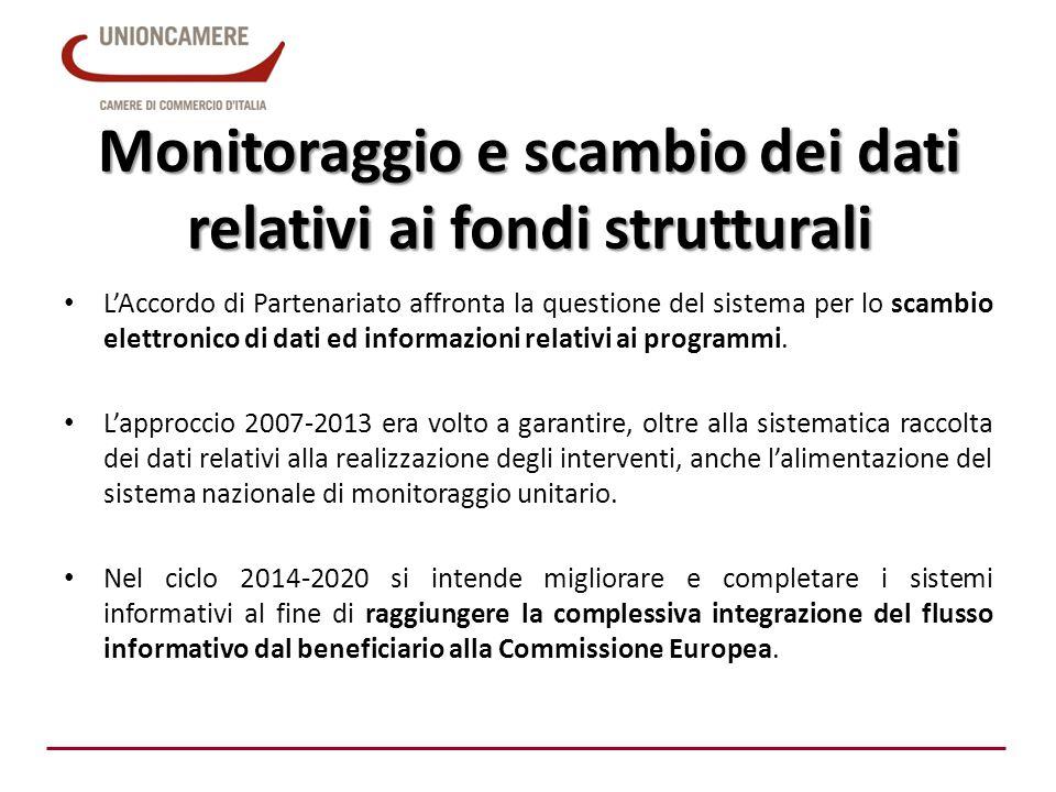 Monitoraggio e scambio dei dati relativi ai fondi strutturali L'Accordo di Partenariato affronta la questione del sistema per lo scambio elettronico d