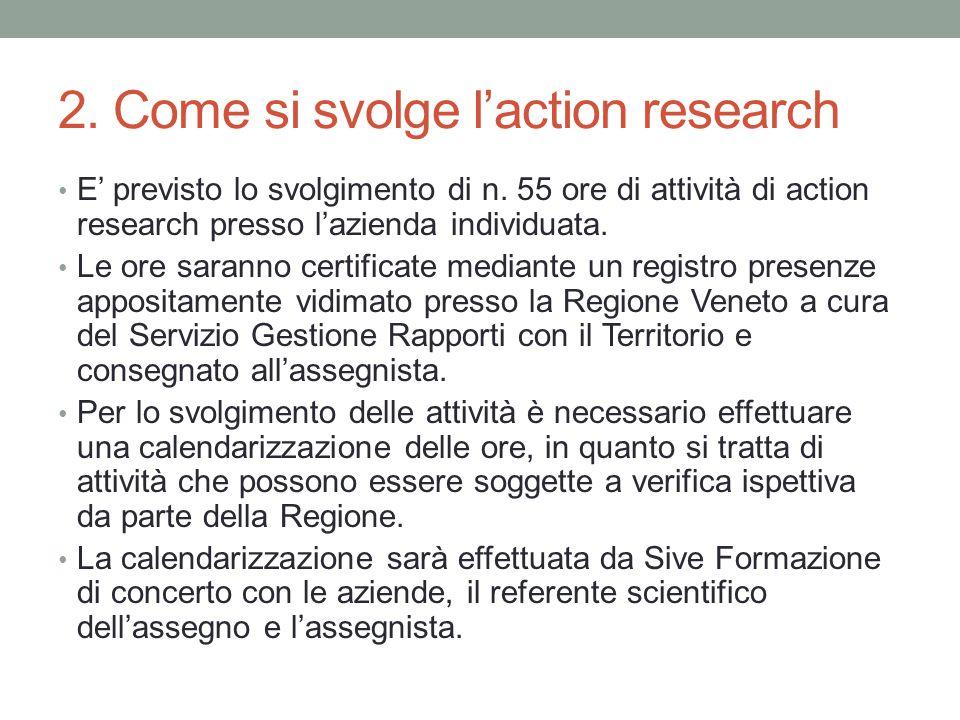 2. Come si svolge l'action research E' previsto lo svolgimento di n.