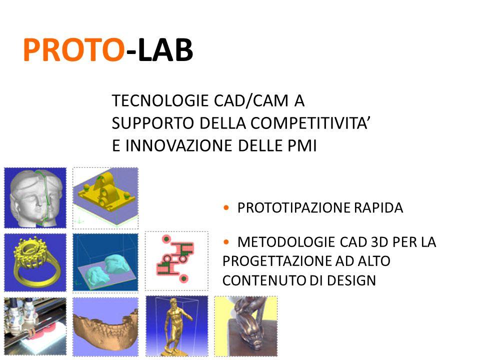 TECNOLOGIE CAD/CAM A SUPPORTO DELLA COMPETITIVITA' E INNOVAZIONE DELLE PMI PROTO-LAB PROTOTIPAZIONE RAPIDA METODOLOGIE CAD 3D PER LA PROGETTAZIONE AD ALTO CONTENUTO DI DESIGN
