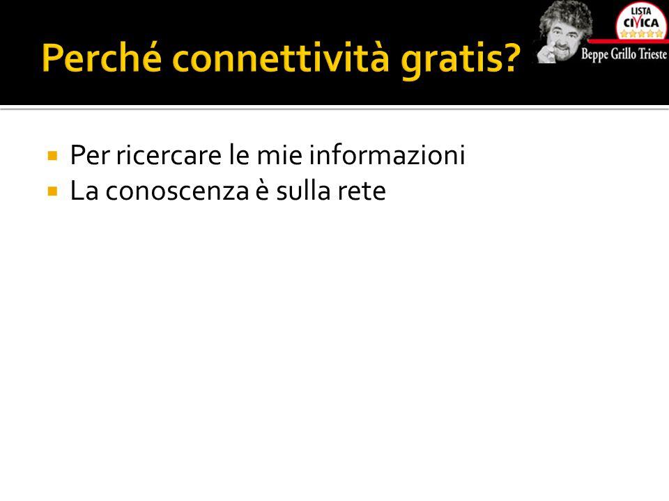  Per ricercare le mie informazioni  La conoscenza è sulla rete