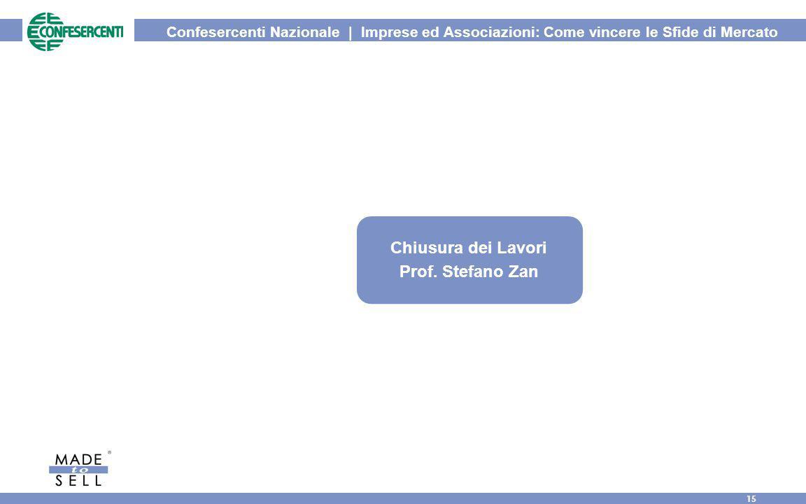 Confesercenti Nazionale | Imprese ed Associazioni: Come vincere le Sfide di Mercato 15 Chiusura dei Lavori Prof. Stefano Zan