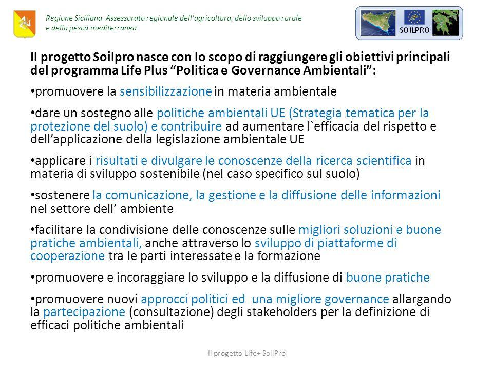 Giampilieri 1 Ottobre 2009 37 morti Il progetto Life+ SoilPro Regione Siciliana Assessorato regionale dell agricoltura, dello sviluppo rurale e della pesca mediterranea