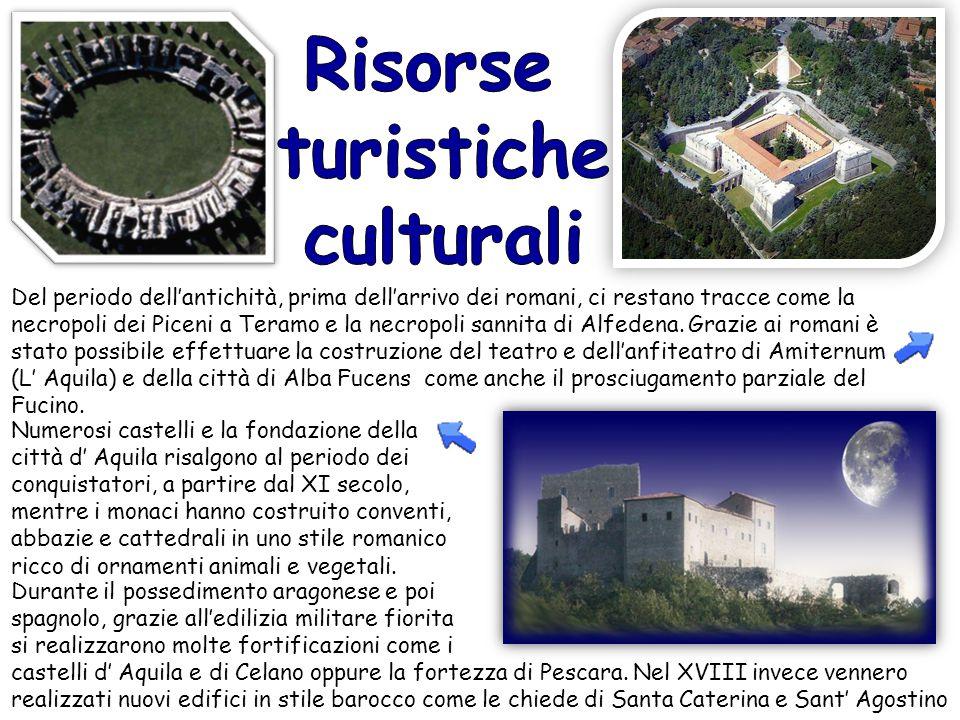 Del periodo dell'antichità, prima dell'arrivo dei romani, ci restano tracce come la necropoli dei Piceni a Teramo e la necropoli sannita di Alfedena.