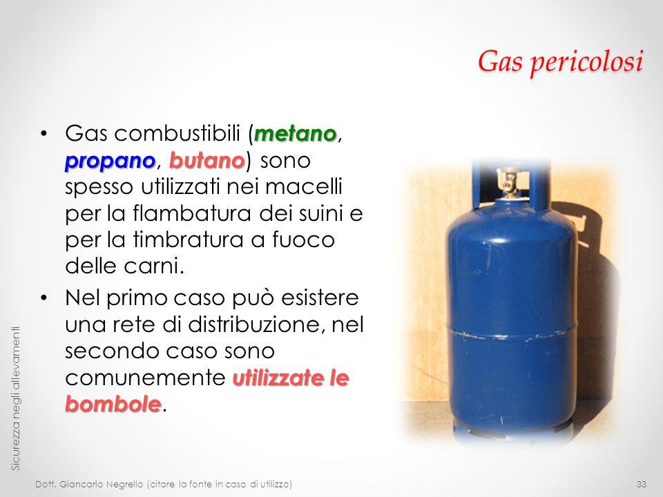 Gas pericolosi metano propanobutano Gas combustibili ( metano, propano, butano ) sono spesso utilizzati nei macelli per la flambatura dei suini e per
