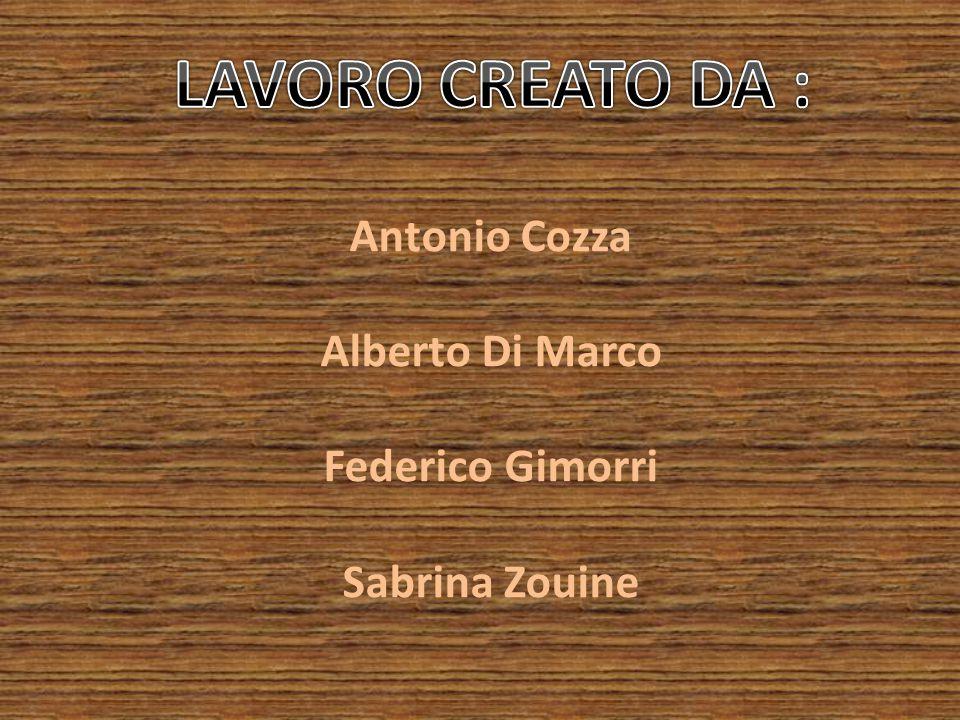 Antonio Cozza Alberto Di Marco Federico Gimorri Sabrina Zouine