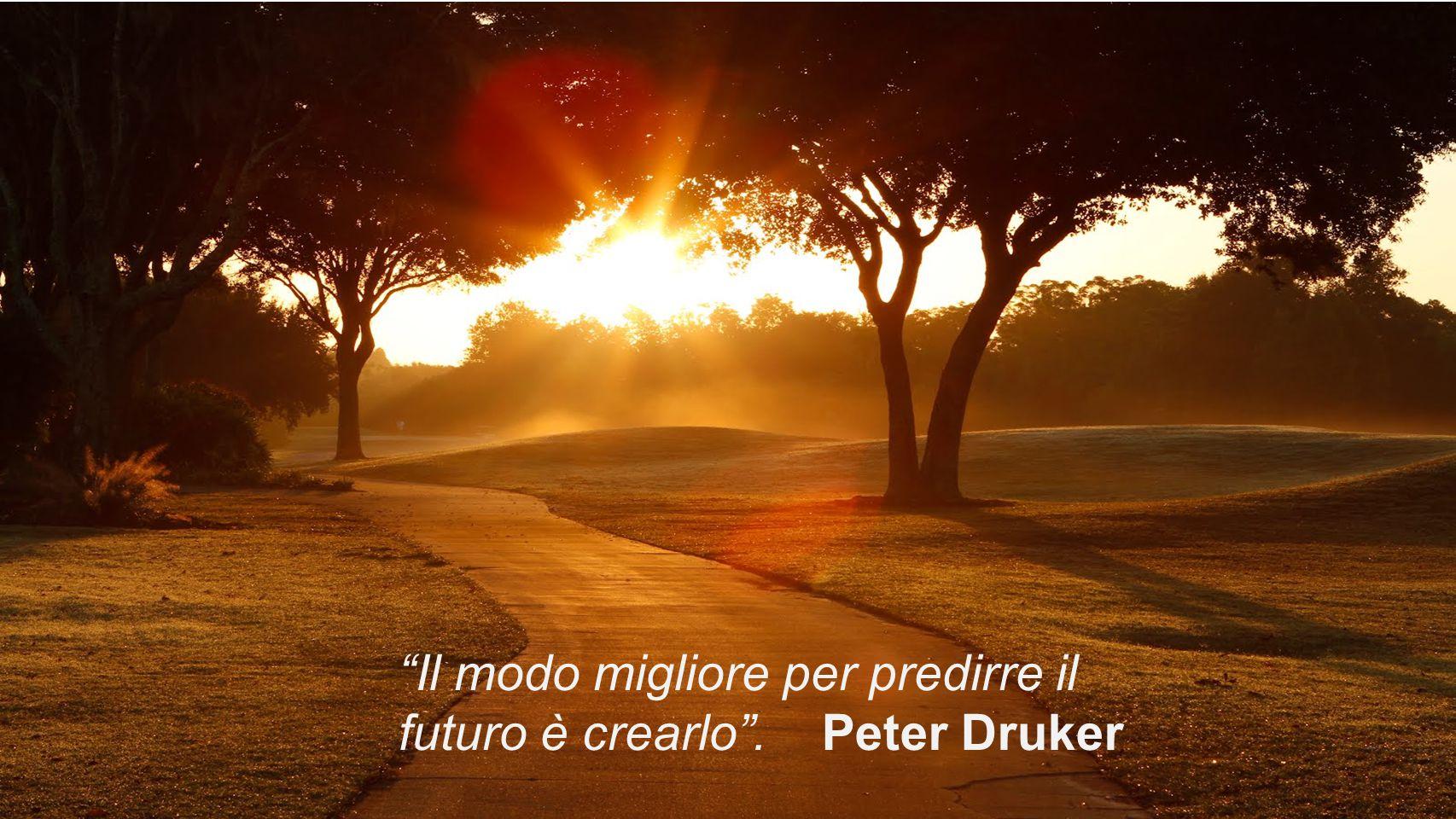 """""""Il modo migliore per predirre il futuro è crearlo"""". Peter Druker"""