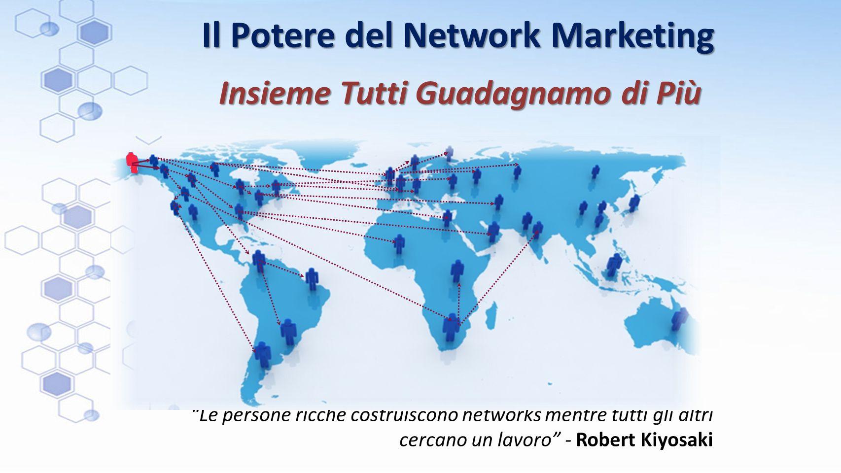 """Il Potere del Network Marketing """"Le persone ricche costruiscono networks mentre tutti gli altri cercano un lavoro"""" - Robert Kiyosaki Insieme Tutti Gua"""