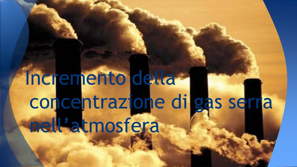 Incremento della concentrazione di gas serra nell'atmosfera