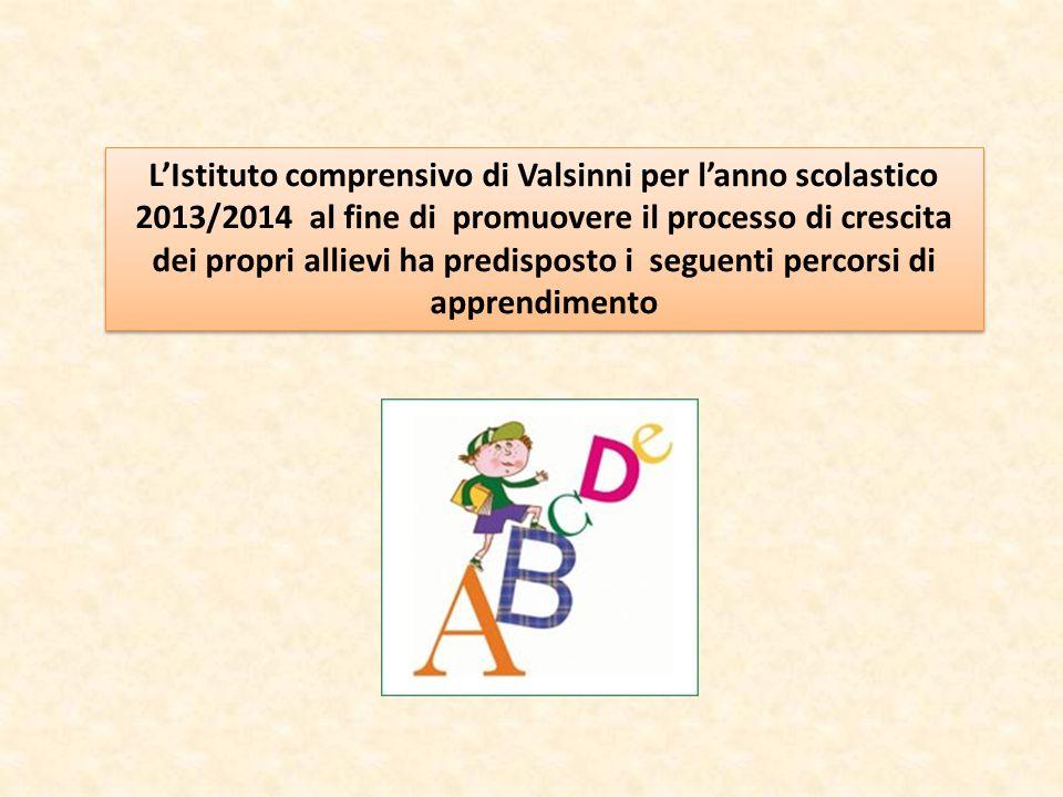 L'Istituto comprensivo di Valsinni per l'anno scolastico 2013/2014 al fine di promuovere il processo di crescita dei propri allievi ha predisposto i s