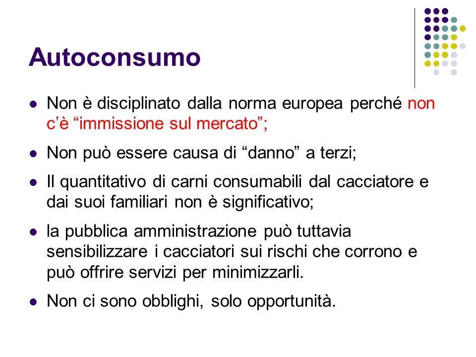 """Autoconsumo Non è disciplinato dalla norma europea perché non c'è """"immissione sul mercato""""; Non può essere causa di """"danno"""" a terzi; Il quantitativo d"""