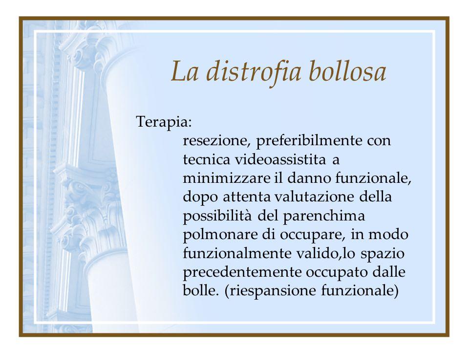 La distrofia bollosa Bolle singole (giganti)