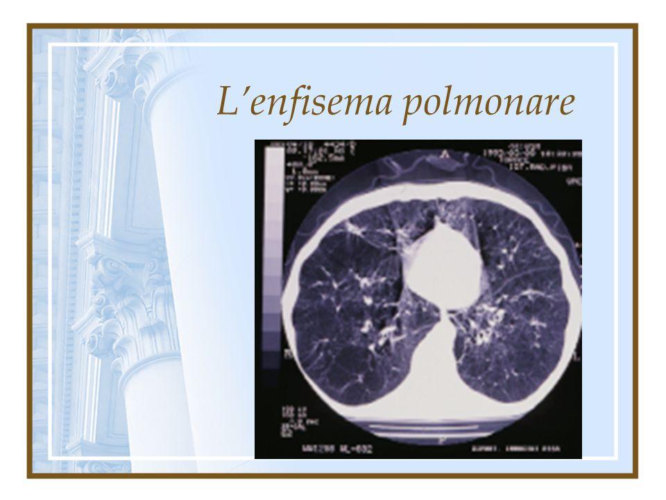 Terapia: il trattamento dell'enfisema polmonare è essenzialmente medico farmacologico e fisiatrico. La terapia chirurgica LVRS ( Lung Volume Reduction