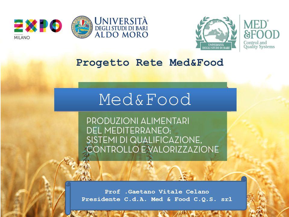 Med&Food Progetto Rete Med&Food Prof.Gaetano Vitale Celano Presidente C.d.A. Med & Food C.Q.S. srl