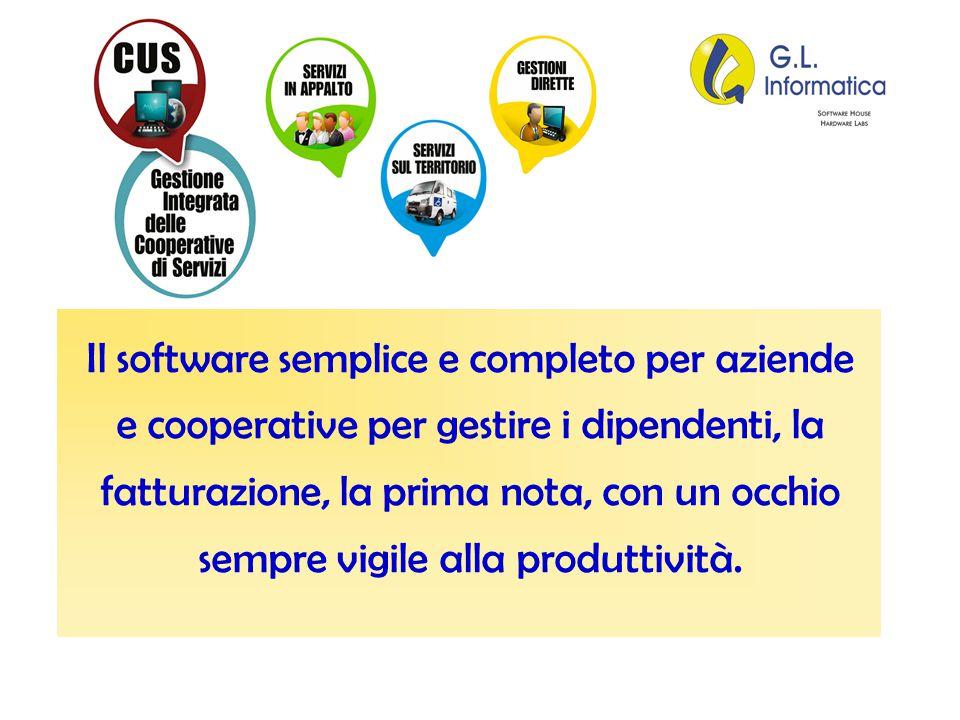 Il software semplice e completo per aziende e cooperative per gestire i dipendenti, la fatturazione, la prima nota, con un occhio sempre vigile alla p