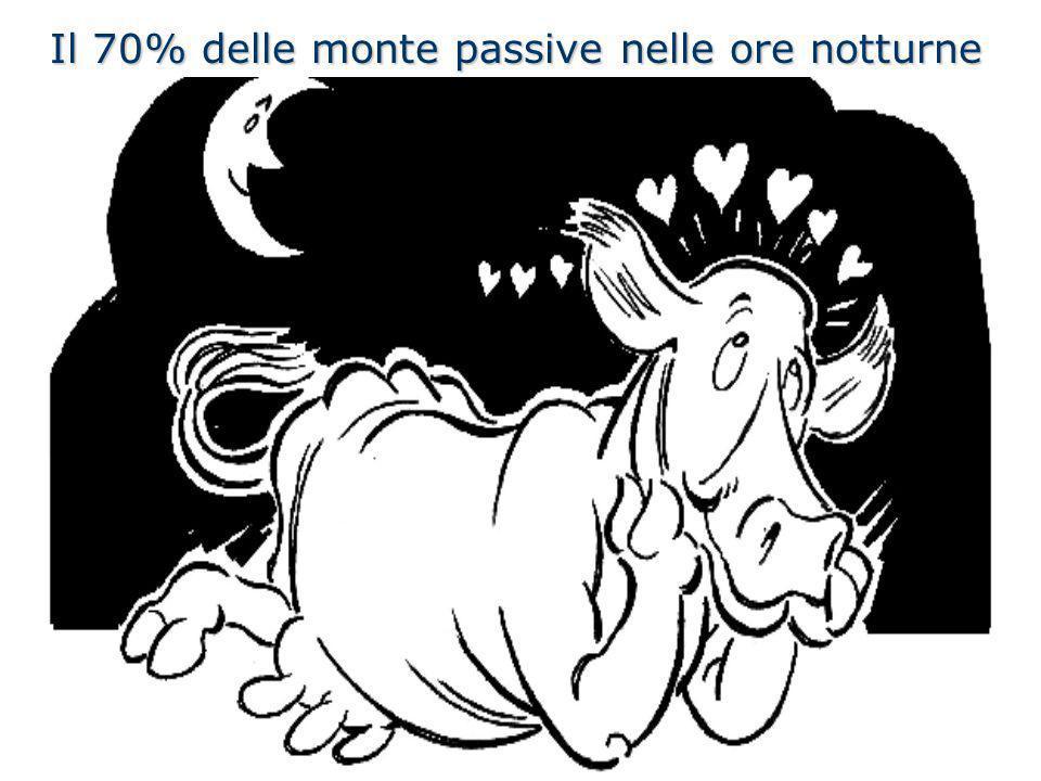 Il 70% delle monte passive nelle ore notturne