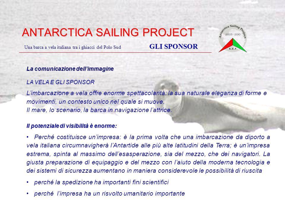 ANTARCTICA SAILING PROJECT GLI SPONSOR Una barca a vela italiana tra i ghiacci del Polo Sud GLI SPONSOR La comunicazione dell'immagine LA VELA E GLI S