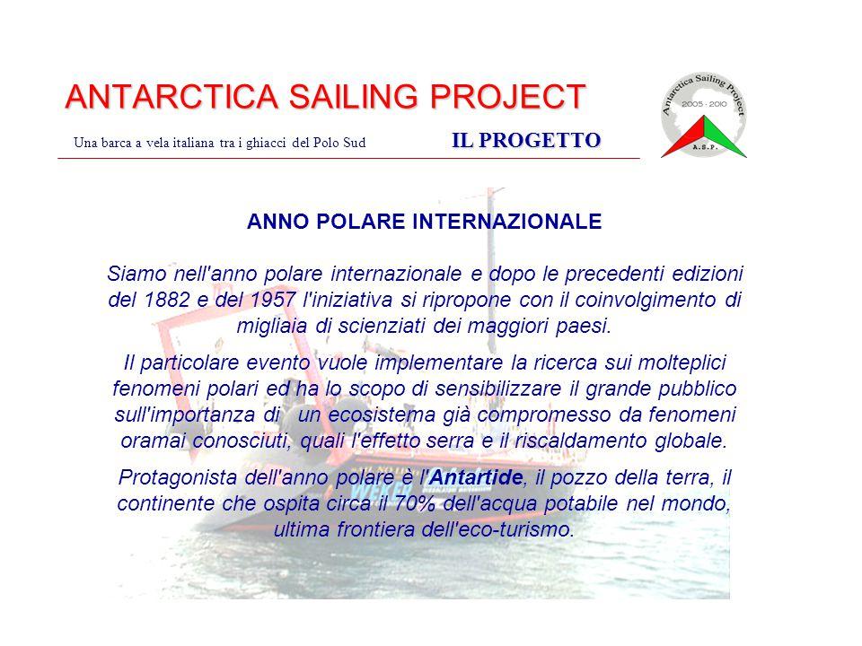 ANTARCTICA SAILING PROJECT IL PROGETTO Una barca a vela italiana tra i ghiacci del Polo Sud IL PROGETTO ANNO POLARE INTERNAZIONALE Siamo nell'anno pol