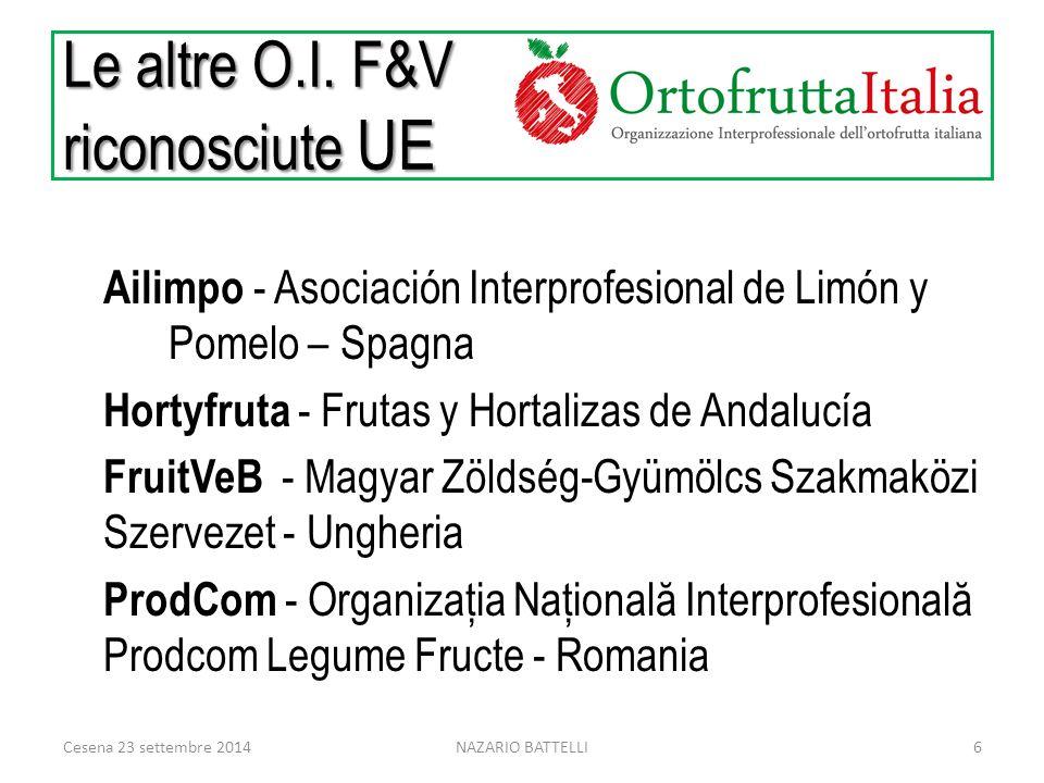 Le altre O.I. F&V riconosciute UE Ailimpo - Asociación Interprofesional de Limón y Pomelo – Spagna Hortyfruta - Frutas y Hortalizas de Andalucía Fruit