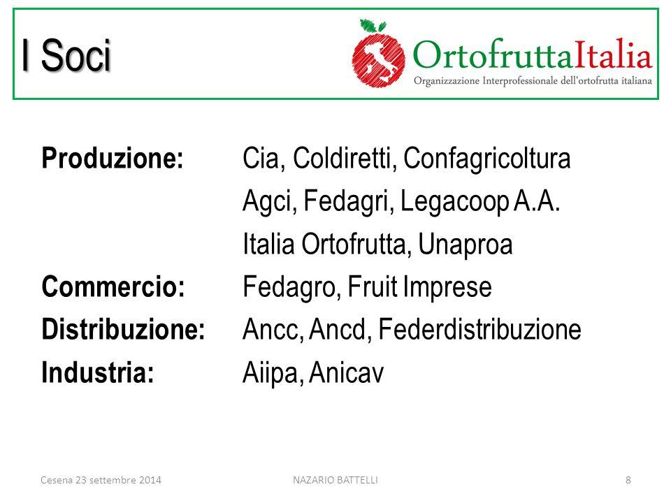 I Soci Produzione: Cia, Coldiretti, Confagricoltura Agci, Fedagri, Legacoop A.A.