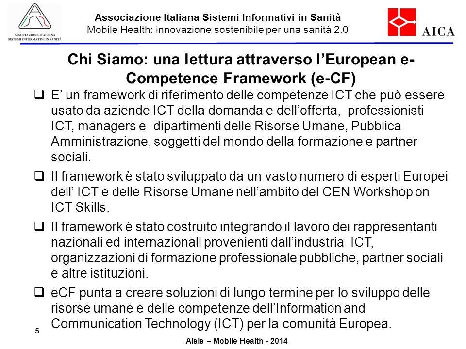 Associazione Italiana Sistemi Informativi in Sanità Mobile Health: innovazione sostenibile per una sanità 2.0 Aisis – Mobile Health - 2014 Chi Siamo:
