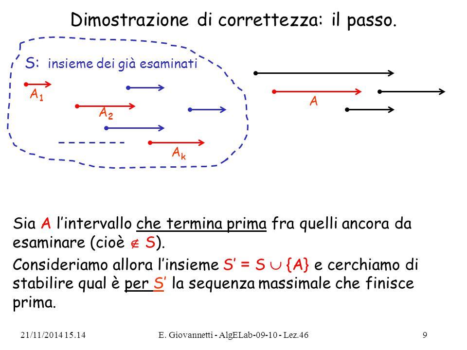 Dimostrazione del passo: caso 1.caso 1) A inizia prima della fine della sequenza A 1, A 2, …, A k.