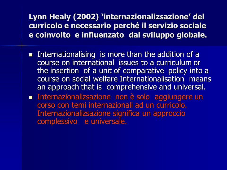 Il lavoro sociale nelle società moderne reagisce ai problemi e sfide che vengono prodotte nella societa.