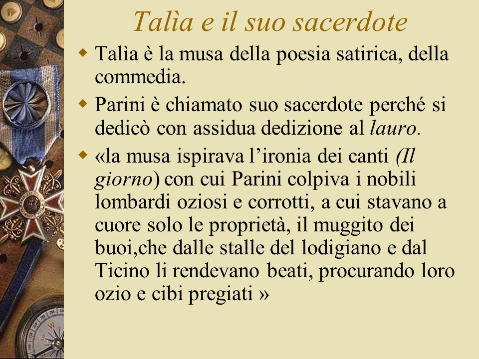 Talìa e il suo sacerdote  Talìa è la musa della poesia satirica, della commedia.