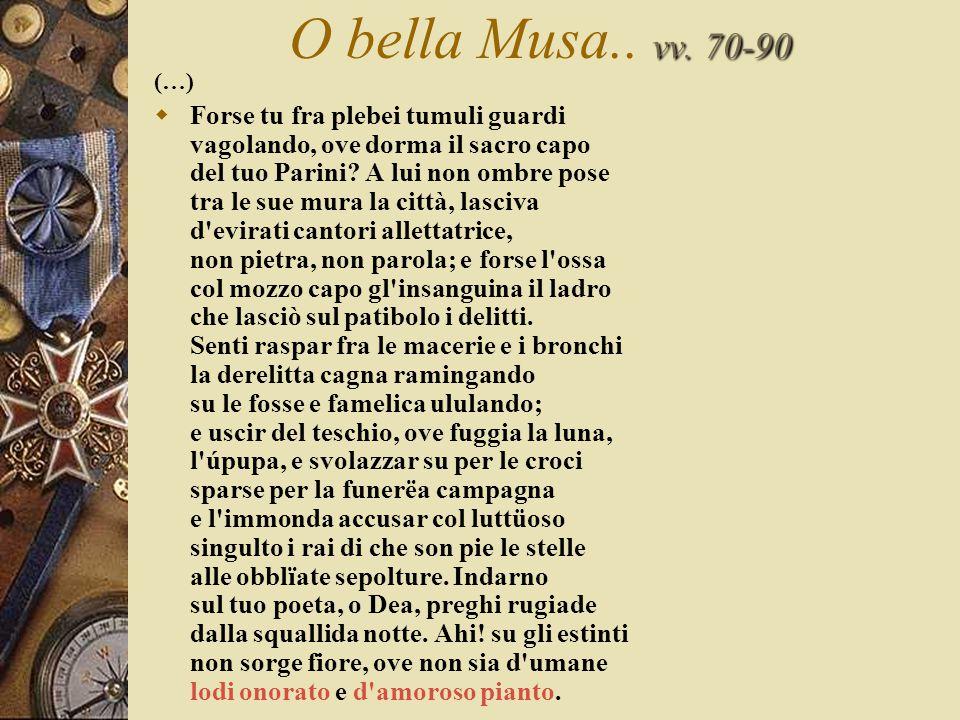 vv.70-90 O bella Musa.. vv.
